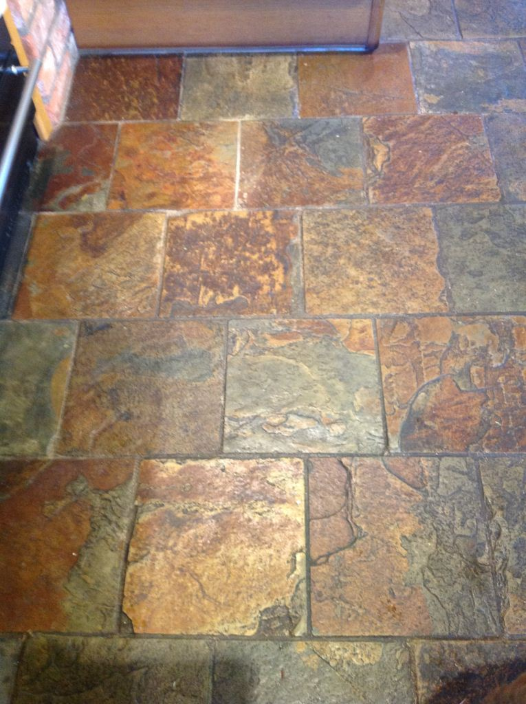 Cleaning And Sealing Slate Tiles In Windermere North Cumbria Tile