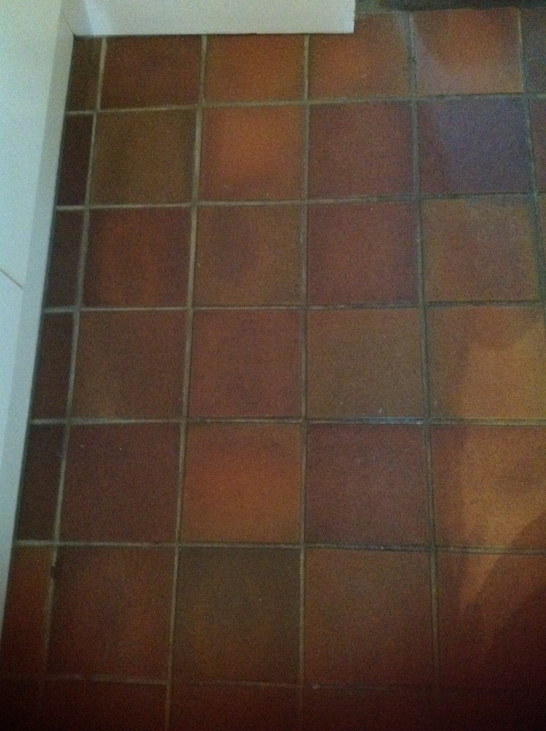 Quarry Tile Cleaning Kendal Before