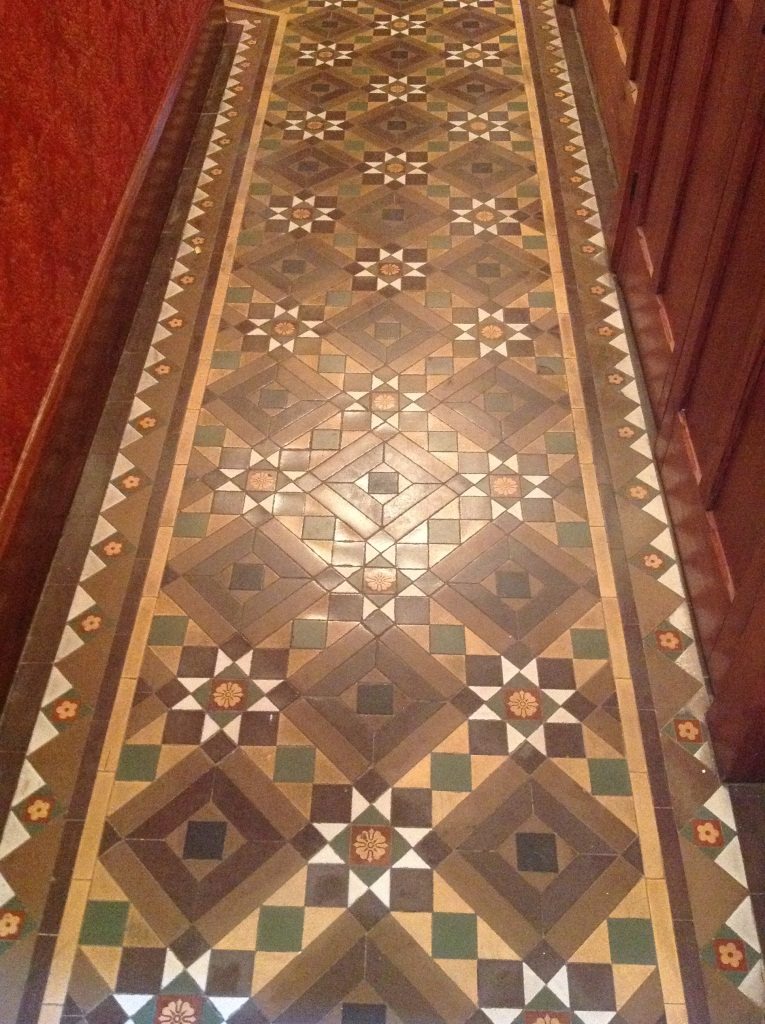 Victorian Tiled Floor Windermere Before Cleaning