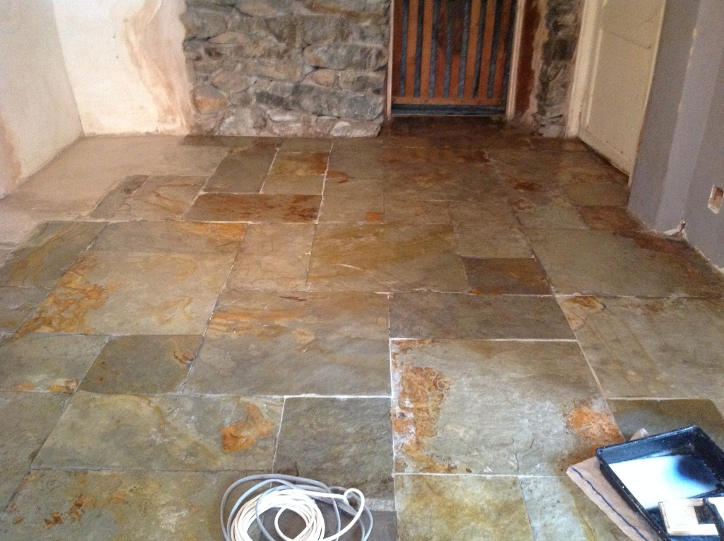 Slate Floor in Ulveston After Cleaning