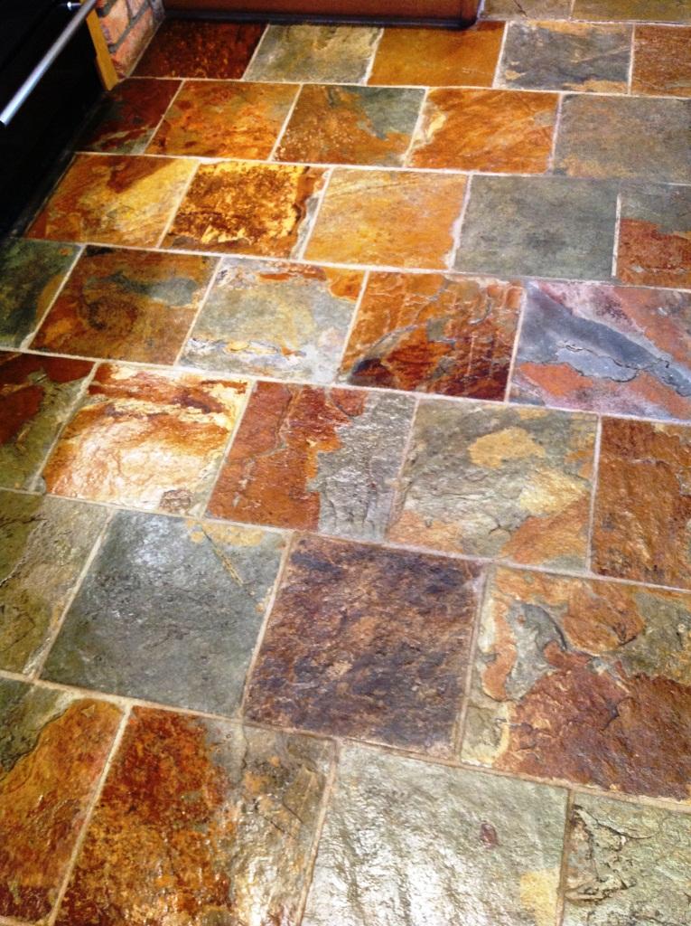 Slate Tile Floor Cleaning After