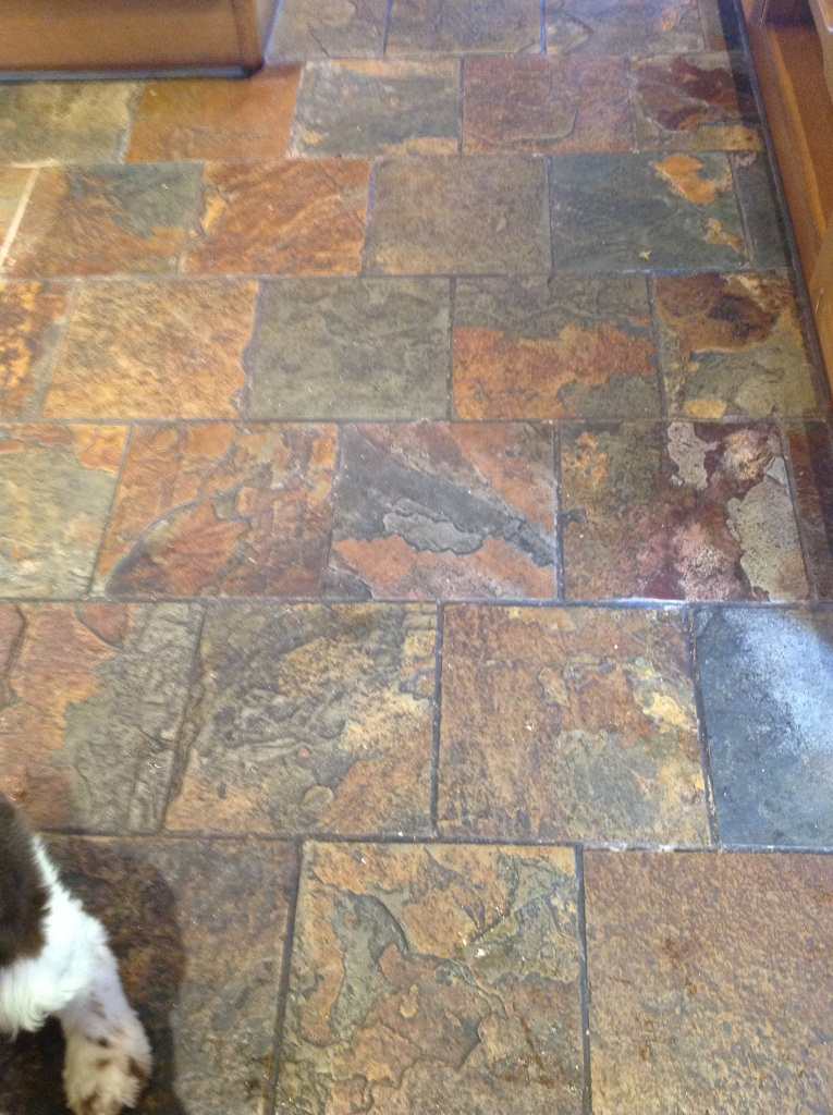 Cleaning and sealing slate tiles in windermere south cumbria tile doctor Slate tile flooring