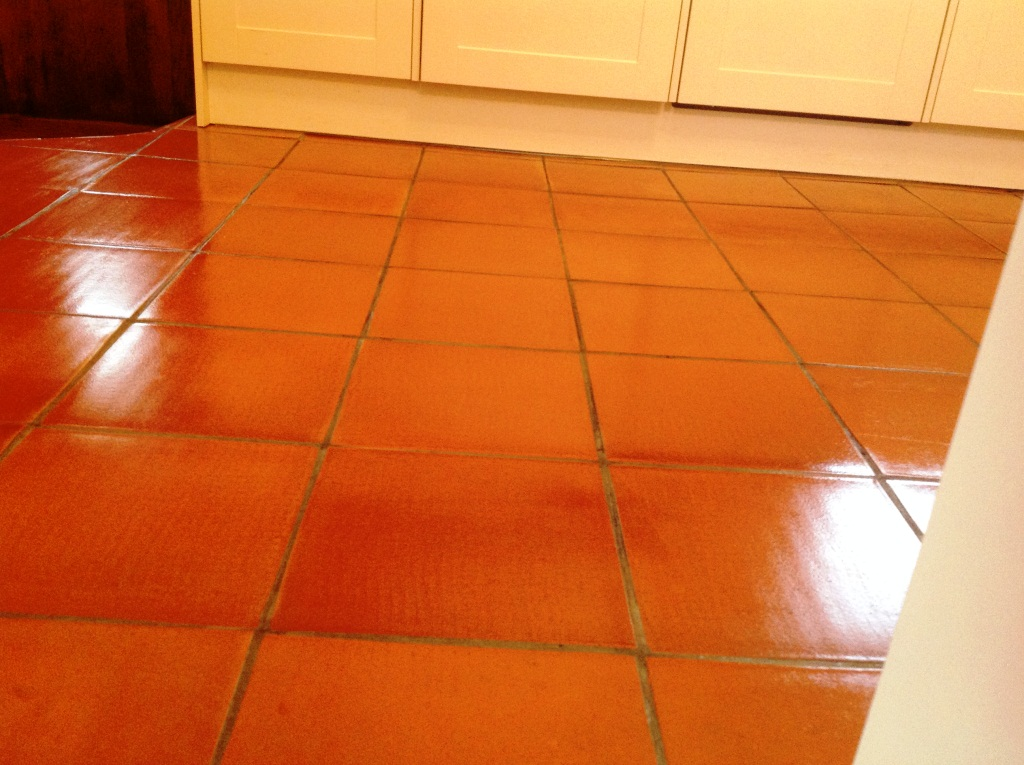 Cockermouth Quarry Tiled Kitchen floor after cleaining 2