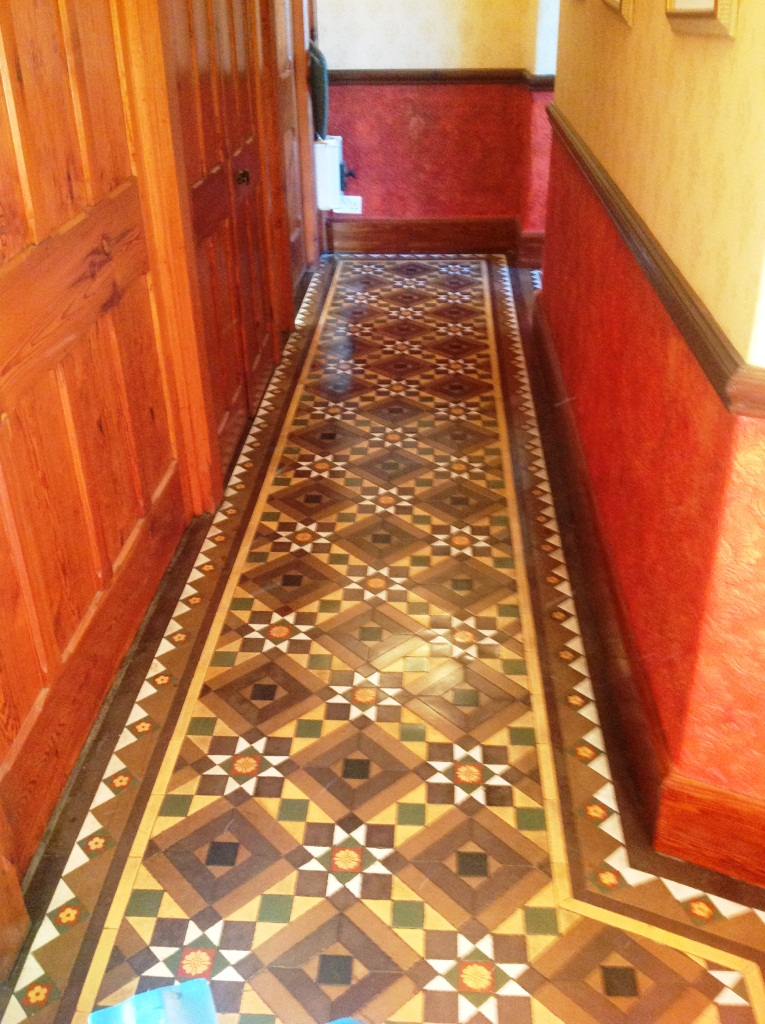 Victorian Tiled Floor Windermere After Cleaning