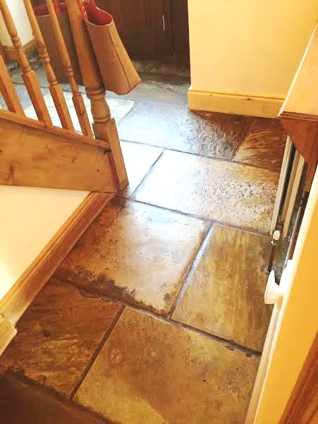 Sandstone floor after milling and sealing in Penrith