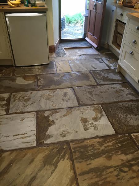 Sandstone floor during milling in Penrith