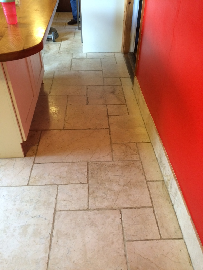 Marble floor before cleaning Penrith