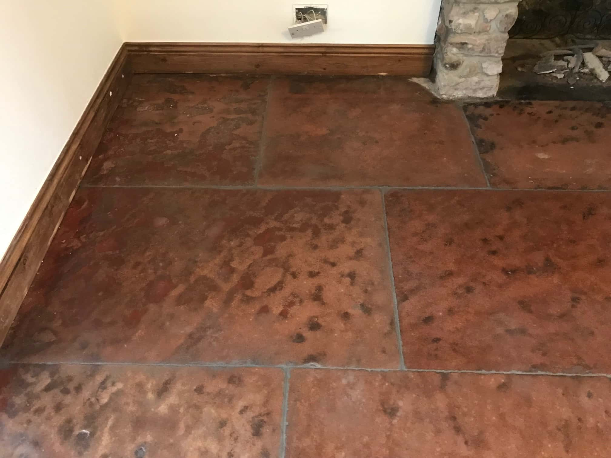 Red Sandstone Flagstones After Renovation Keswick