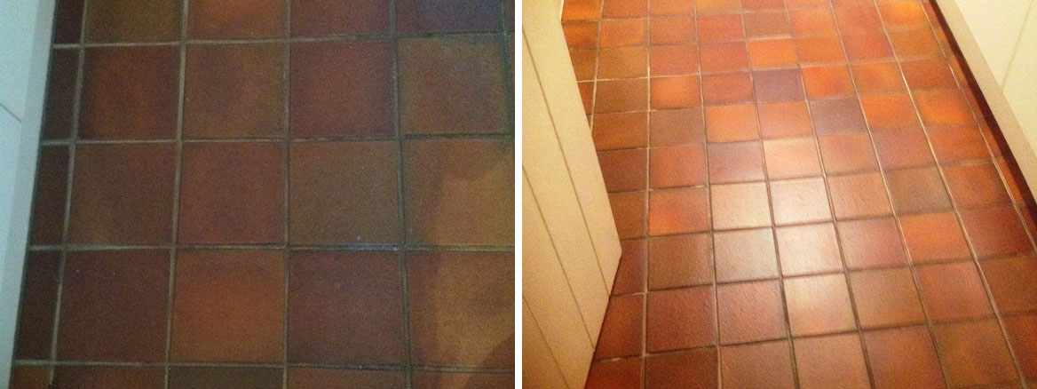 Quarry Tile Cleaning Kendal Before and After