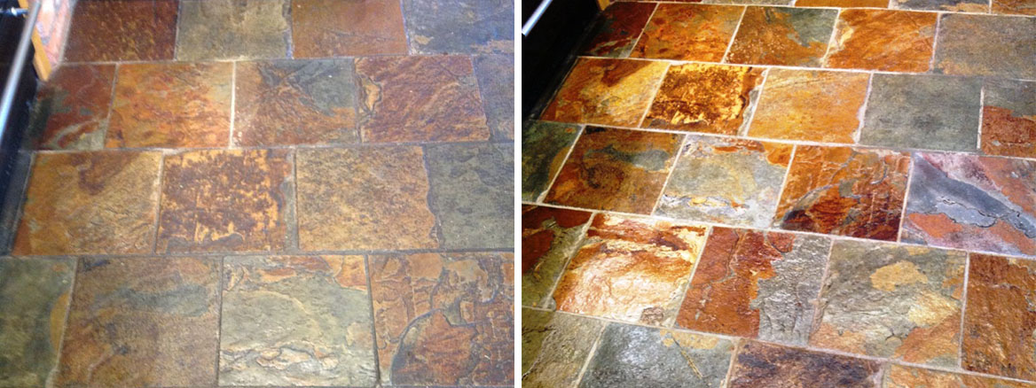 Cleaning and Sealing Slate Tiles in Windermere