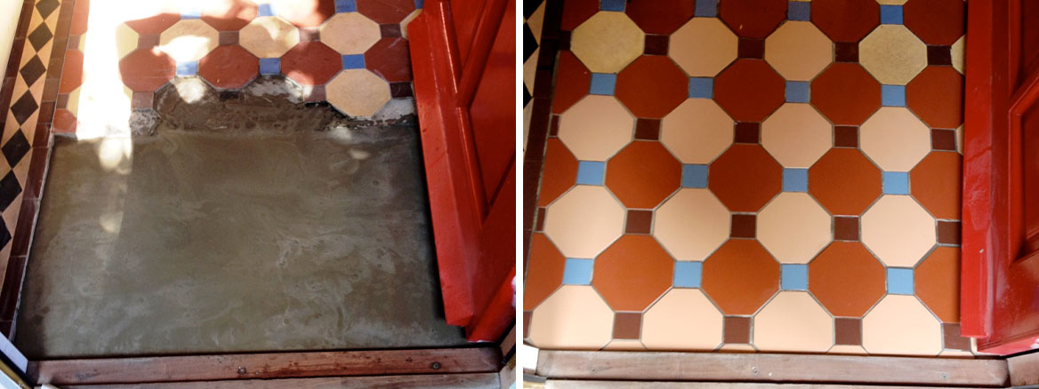 Victorian Tile Renovation Penrith Before and After