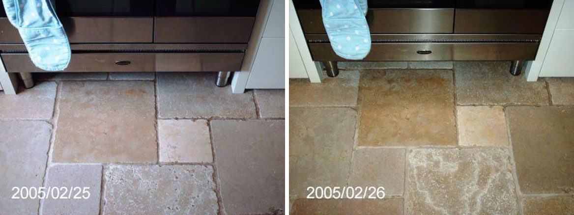 Marble floor tile cooker Before and After
